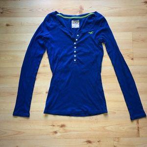 Hollister Ribbed Long Sleeve T-Shirt